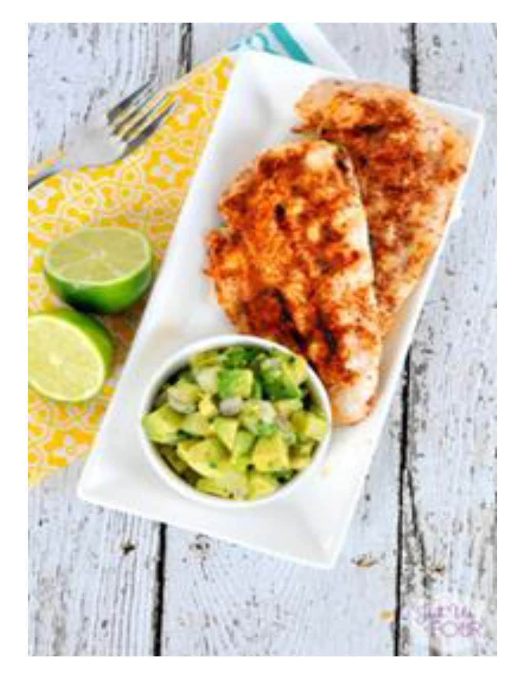 Chipotle Chicken with Avocado Salsa Photo