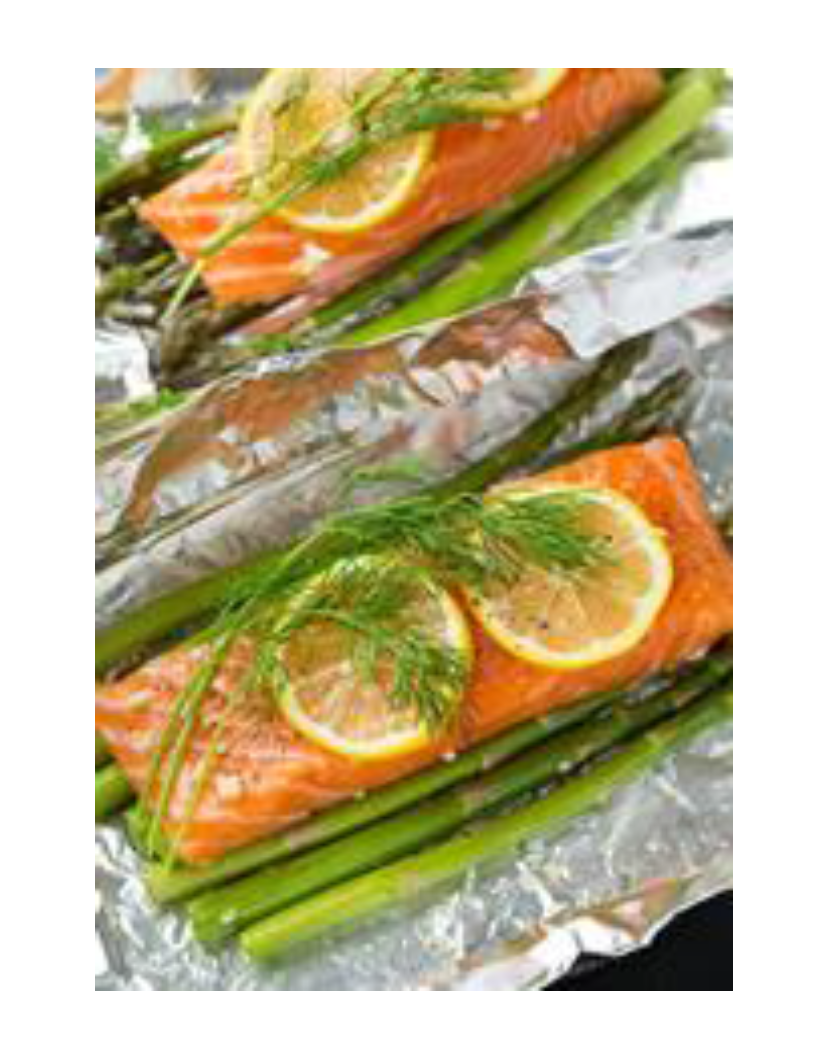 Baked Salmon and Asparagus Photo